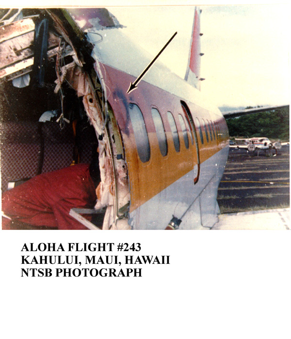 human factors on aloha 243 Human factors in aviation maintenance: a look at the fundamental concepts   in 1988, aloha airlines flight 243 had a large section of its fuselage separate.